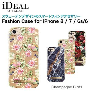 iDEAL OF SWEDEN Fashion Case for iPhone 8 / 7 / 6s / 6 Champagne Birds|softbank-selection