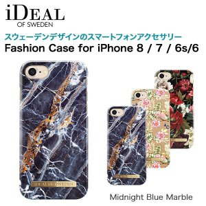 iDEAL OF SWEDEN Fashion Case for iPhone 8 / 7 / 6s / 6 Midnight Blue Marble|softbank-selection