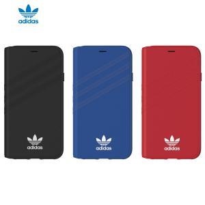 adidas iPhoneX ケース OR-Booklet case Black / White softbank-selection