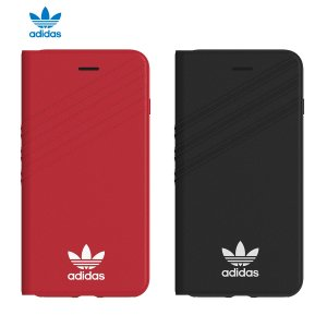 adidas iPhone8Plus ケース OR Booklet case Royal Red / White|softbank-selection