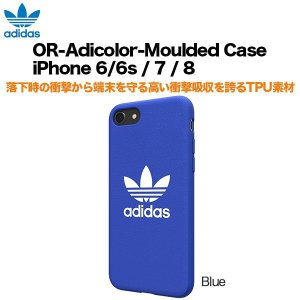 adidas OR-Adicolor-Moulded Case iPhone 6/6s / 7 / 8 Blue|softbank-selection