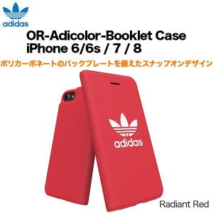 adidas OR-Adicolor-Booklet Case iPhone 6/6s / 7 / 8 Radiant Red|softbank-selection