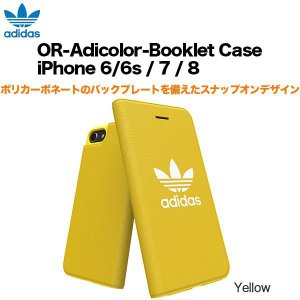 adidas OR-Adicolor-Booklet Case iPhone 6/6s / 7 / 8 Yellow|softbank-selection