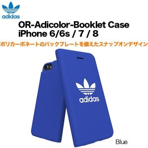 adidas OR-Adicolor-Booklet Case iPhone 6/6s / 7 / 8 Blue|softbank-selection