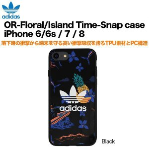 adidas OR-Island Time-Snap case iPhone 6/6s / 7 / 8 Black|softbank-selection