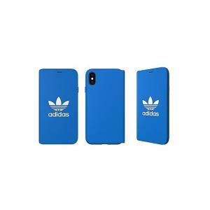 アディダス adidas iPhone XS ケース 手帳型 OR Booklet Case CLASSICS TREFOIL FW18 ブルーバード/ホワイト|softbank-selection