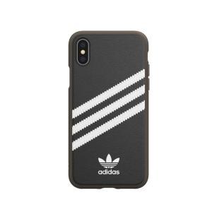 アディダス adidas iPhone X iPhone XS ケース OR Moulded case PU Gumsole black white|softbank-selection