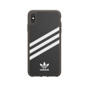 アディダス adidas iPhone XS Max ケース OR Moulded case PU Gumsole black white|softbank-selection