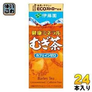 伊藤園 健康ミネラルむぎ茶 250ml 紙パック 24本入〔麦茶 むぎちゃ お茶〕