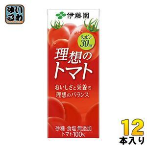 伊藤園 理想のトマト 200ml紙パック 12本入 (野菜ジ...