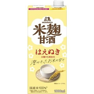森永製菓 森永のやさしい米麹甘酒 1L 紙パック 6本入〔甘酒〕|softdrink|02