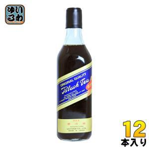 ジーエスフード ブラックティー 低甘味 500ml 瓶 12本入