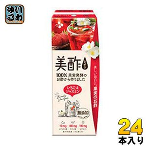 CJジャパン プティチェル美酢(ミチョ) いちご&ジャスミン 200ml 紙パック 24本入