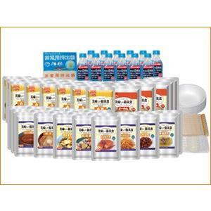美味しい防災食ファミリーセット(3人×3日分)(保存水有) FS35-FL 防災 非常食 保存食|softya
