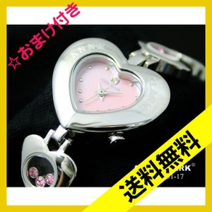 ANNE CLARK(アンクラーク)ハート型ケース&ハート型チェーンブレス腕時計 AU1031-17 (HY)|softya