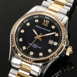 Mauro Jerardi マウロジェラルディ ソーラー メンズ腕時計/ゴールドコンビ MJ037-2 (HY)|softya