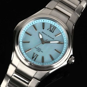 Mauro Jerardi マウロジェラルディ チタンソーラー メンズ腕時計/ ブルー MJ039-2 (HY)|softya