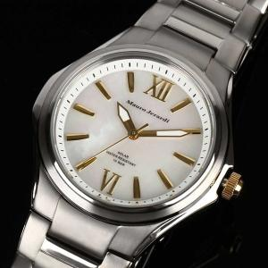 Mauro Jerardi マウロジェラルディ チタンソーラー メンズ腕時計 バーインデックス/ホワイト MJ039-3 (HY)|softya
