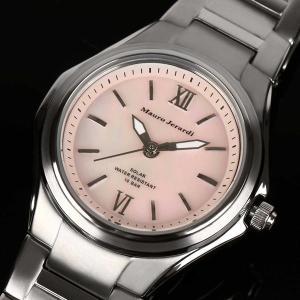 Mauro Jerardi マウロジェラルディ チタンソーラー レディース腕時計 /ピンク MJ040-2 (HY)|softya