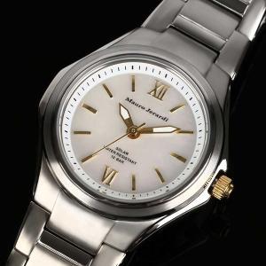 Mauro Jerardi マウロジェラルディ チタンソーラー レディース腕時計 バーインデックス/ホワイト MJ040-3 (HY)|softya