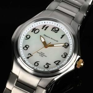 Mauro Jerardi マウロジェラルディ チタンソーラー レディース腕時計 数字インデックス/ホワイト MJ040-4 (HY)|softya