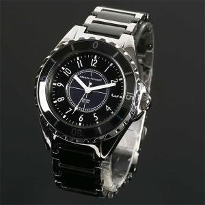 Mauro Jerardi マウロジェラルディ ステンレス&セラミックソーラー メンズ腕時計 ブラック MJ041-1 (HY)|softya