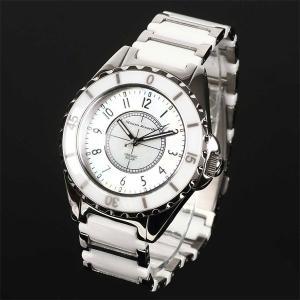 Mauro Jerardi マウロジェラルディ ステンレス&セラミックソーラー メンズ腕時計 ホワイト MJ041-2 (HY)|softya