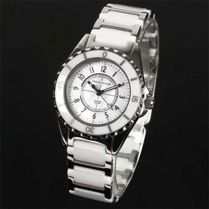 Mauro Jerardi マウロジェラルディ ステンレス&セラミックソーラー レディース腕時計 ホワイト MJ042-2 (HY)|softya