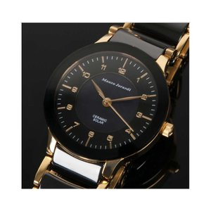 Mauro Jerardi マウロジェラルディ ソーラー レディース腕時計 ブラック MJ044-1 (HY)|softya