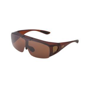 SPALDING 跳ね上げ式偏光オーバーサングラス SPO-301 偏光ブラウン(HY)|softya