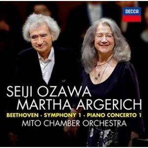 (おまけ付)ベートーヴェン:ピアノ協奏曲第1番&交響曲第1番 / 小澤征爾、マルタ・アルゲリッチ、水戸室内管弦楽団 (CD) UCCD-1452-SK softya