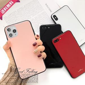 iPhone XS Max XR ケース iPhoneXS iPhone8 耐衝撃 おしゃれ iPhoneケース 韓国 スマホケース フルカバー 背面ガラス キラキラ シンプル ラウンド