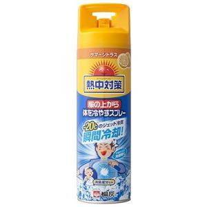 熱中対策 服の上から体を冷やすスプレー サマーシトラス 330ml 桐灰化学【RH】