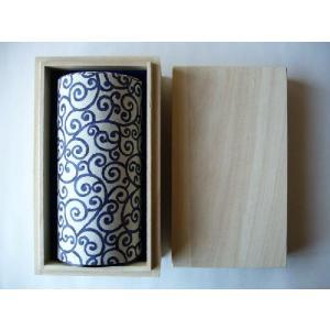 藍(唐)桐箱1缶入り 上|sohno