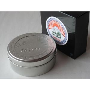 明治時代の輸出用ラベルを復刻して缶入にしました  煎茶(中蒸し)上 を80gを入れました。  包装・...