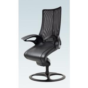 オフィスチェア オカムラ レオパード ミドルバック CE73BRブラックフレーム 座:革張り仕様 固定タイプ|soho-honpo