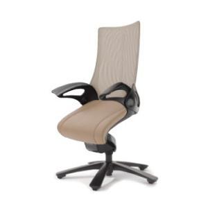 オフィスチェア オカムラ レオパード ミドルバック CE73BSブラックフレーム 座:革張り仕様   キャスター付き|soho-honpo