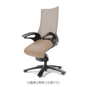 オフィスチェア オカムラ レオパード ミドルバック CE73BSブラックフレーム 座:布張り仕様(ブラック) キャスター付き|soho-honpo