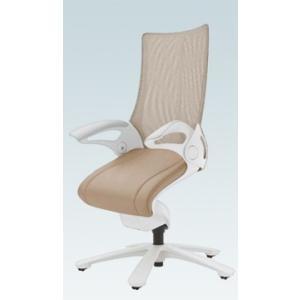 オフィスチェア オカムラ レオパード ミドルバック CE73WSホワイトフレーム 座:革張り仕様(背座同色)   キャスター付き|soho-honpo