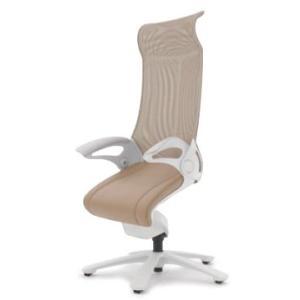 オフィスチェア オカムラ レオパード ハイバック CE93WSホワイトフレーム 座:革張り仕様(背座同色)  キャスター付き|soho-honpo