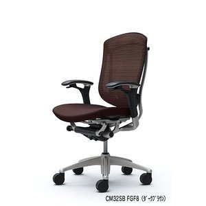 オフィスチェア オカムラ コンテッサ スタンダードタイプ CM32SBシルバーフレーム ブラックボディ 座:クッション|soho-honpo