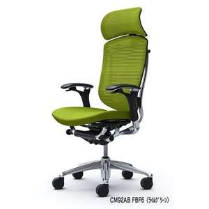 オフィスチェア オカムラ コンテッサ 大型ヘッドレストタイプ CM92ABポリッシュフレーム ブラックボディ 座:クッション|soho-honpo