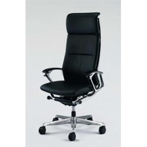 オフィスチェア オカムラ デューク EXハイバックシルバーフレームCZ77ZX P676 革張りタイプ(ブラック) soho-honpo