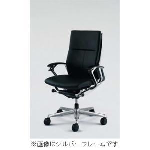 オフィスチェア オカムラ デューク ハイバックブラックフレームCZ55ZX-P676 革張りタイプ(ブラック) soho-honpo