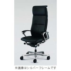 オフィスチェア オカムラ デューク EXハイバックブラックフレームCZ57ZX P676 革張りタイプ(ブラック) soho-honpo