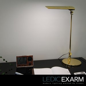 LED デスクライト 調光&調色機能付 LEDIC EXARM Diva(レディック エグザーム ディーヴァ) スタンド式 LEX-974(Sol Luna)|soho-st