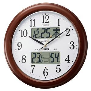 カレンダー・湿度計・温度計機能付 CITIZEN 電波時計(夜間自動点灯) インフォームナビEX|soho-st