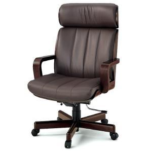 【オフィスチェアー】 イトーキ R-1(ハイバック 背裏突板貼りタイプ)皮革張り|soho-st