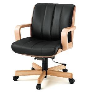 【オフィスチェアー】 イトーキ R-1(ミドルバック 背裏突板貼りタイプ)皮革張り|soho-st