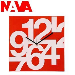 NAVA 壁掛け時計 TIME SQUARE NUMERI SOFT(ヌーメリソフト)|soho-st